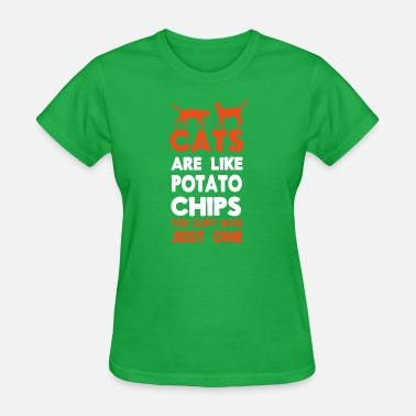 Chip Cats like Potato Chips - Women's T-Shirt