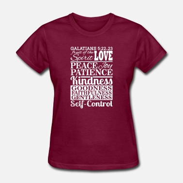 Spirit Christian Bible Galatians 5:22 fruit of the spirit - Women's T-Shirt