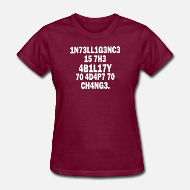 Intelligence Quotes Intelligence Quote Cool Logo - Women's T-Shirt