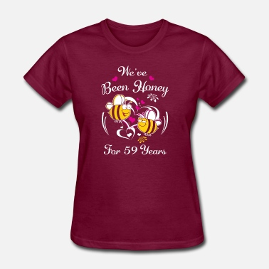 59 Anniversary We've Been Honey For 59 Years Wedding Anniversary - Women's T-Shirt