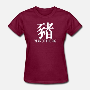Hanzi Year Of The Pig TShirt Chinese Hanzi Pig Symbol - Women's T-Shirt