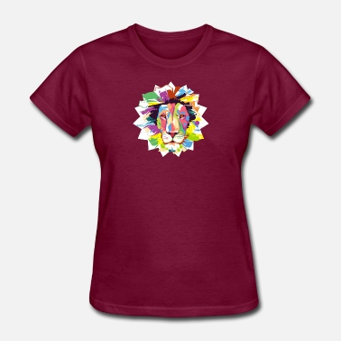 Artfetish lion head pop art - Women's T-Shirt