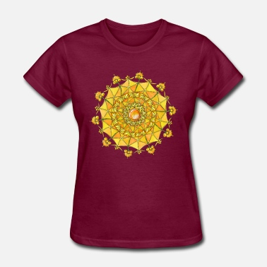 Navel Zentangle Mandala Navel Manipura Chakra - Women's T-Shirt