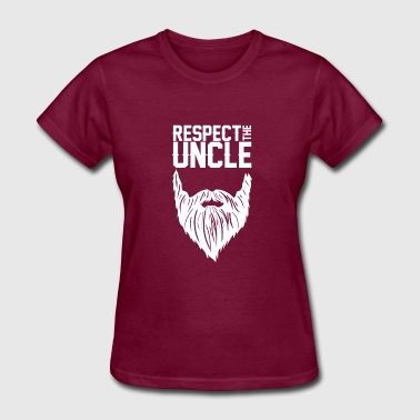 Cool Beard Clothing Respect The Uncle T-Shirt Cool Bearded Uncle - Women's T-Shirt