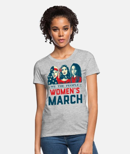 Quote T-Shirts - Women's March 2017t shirt - Women's T-Shirt heather gray