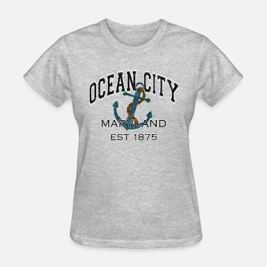 Anchor Ocean Ocean City Maryland Anchor Design - Women's T-Shirt