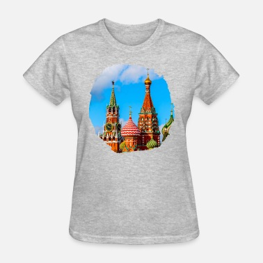 Kremlins Moscow Kremlin and St. Basil Cathedral - Women's T-Shirt
