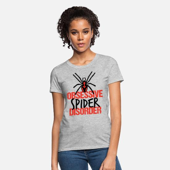 Arachnid T-Shirts - Obsessive Spider Disorder - Women's T-Shirt heather gray