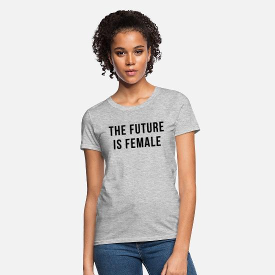 Power T-Shirts - Future Is Female Quote - Women's T-Shirt heather gray