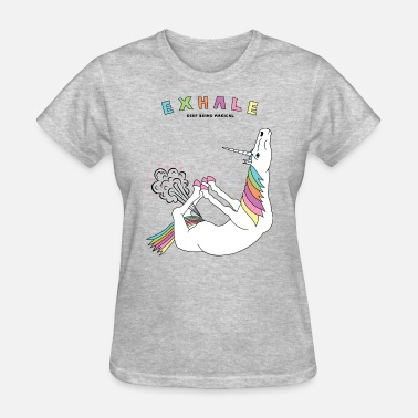 Bow Pose Bow Pose Unicorn Exhale Outline - Women's T-Shirt