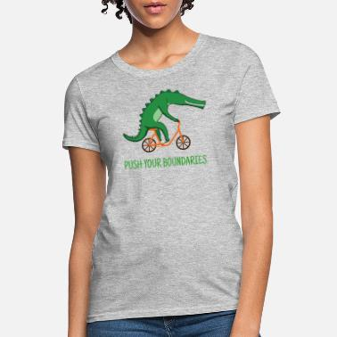 Crocodile Crocodile Alligator Bicycle Funny Animal Ironic - Women's T-Shirt
