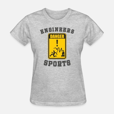 Funny Rectangle Robotic Engineers Sports Sign - Women's T-Shirt
