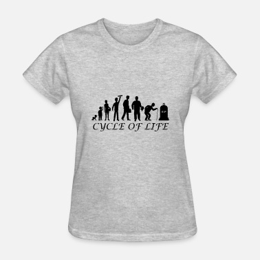 Meme Cycling Cycle of life - Women's T-Shirt