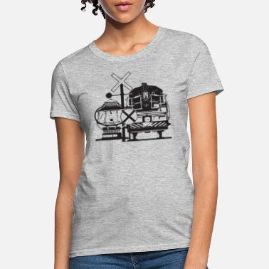 Steam Locomotive Vintage Train Locomotive - Women's T-Shirt
