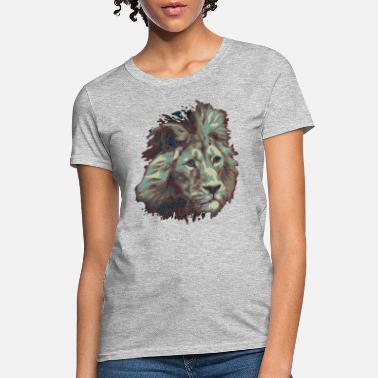 Distant Worlds Sad old Fallen Lion Artwork Design - Women's T-Shirt