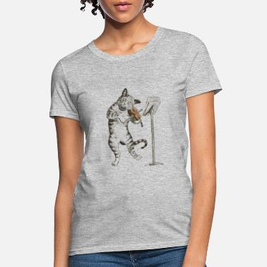 Music cat playing fiddle - Women's T-Shirt