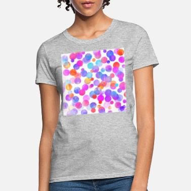 Lilac Buttercup Yellow Neck Gator Colorful Abstract - Women's T-Shirt
