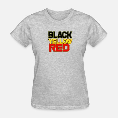 Red With Yellow Star black yellow red - Women's T-Shirt