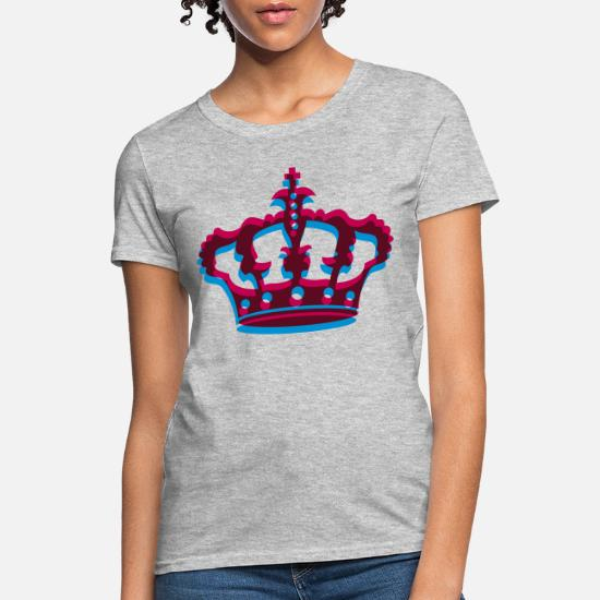 Queen Tees Womens Graphic Crown Shirt Design for King Prince Princess Simple Trendy Unisex T-Shirt