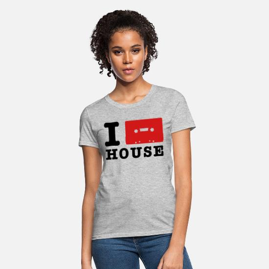Music T-Shirts - i love house music - Women's T-Shirt heather gray