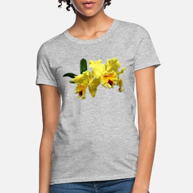 Orchid Two Yellow Cattleya Orchids - Women's T-Shirt