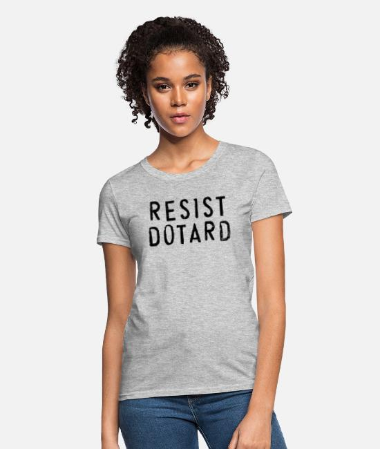 Resistance T-Shirts - Resist Dotard Trump - Women's T-Shirt heather gray