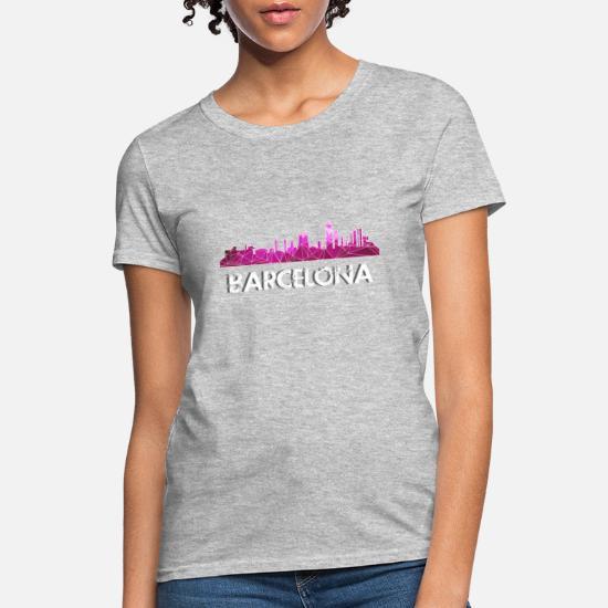 the latest d03fd a7033 Barcelona Skyline Pink Women's T-Shirt | Spreadshirt