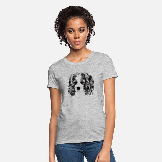Spaniel T-Shirts - Cavalier King Charles Spaniel - Women's T-Shirt heather gray