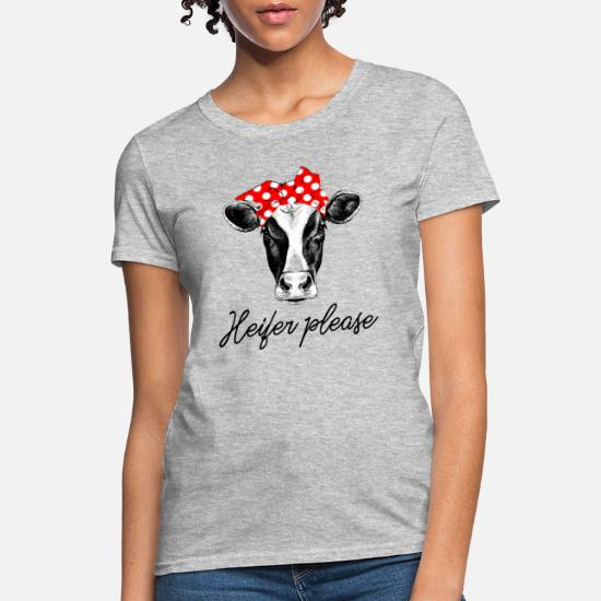 7eef71881 Cow T-Shirts - Heifer Please - Funny Bandana Cow - Women's T-Shirt