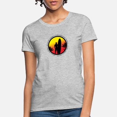 Surf Mexico Surfing Cool Sunset Surfer Palm Tree - Women's T-Shirt