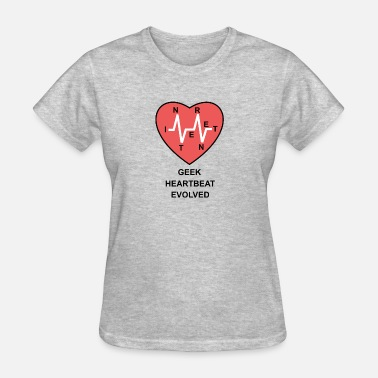Cardiography geek heartbeat evolved - Women's T-Shirt