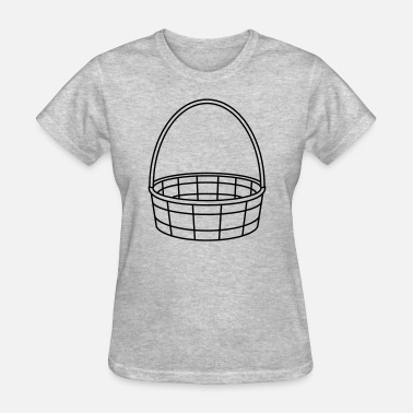 Blank easter basket basket basket weave plaited clipart - Women's T-Shirt