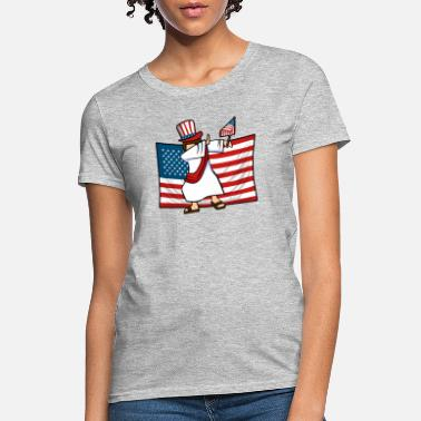American Jesus Dab For Freedom Jesus American Flag - Women's T-Shirt
