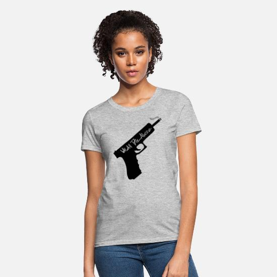 Gun T-Shirts - Gun - Women's T-Shirt heather gray