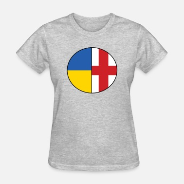 Dual Flags England Ukraine National Flag Dual Genes - Women's T-Shirt