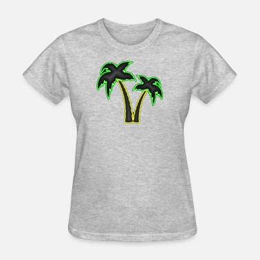 Palm Trees Neon Palm Trees - Women's T-Shirt