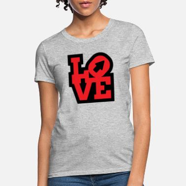 Love typography creative icon - Women's T-Shirt