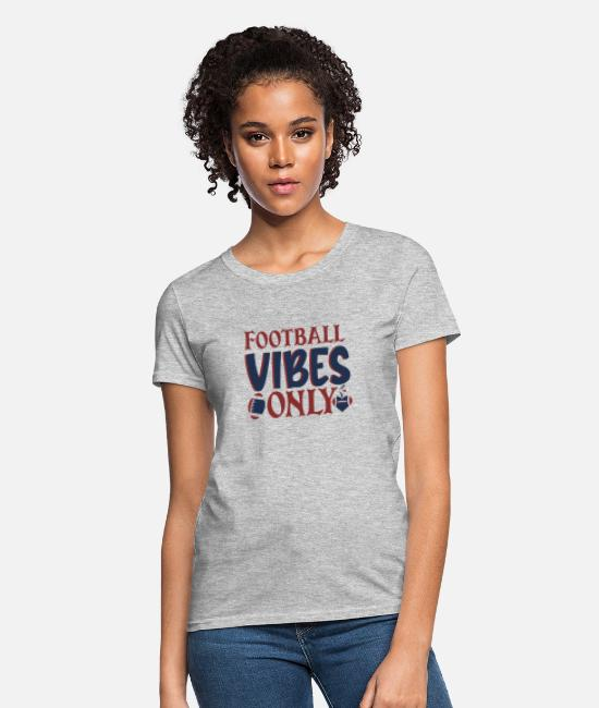 Football Cleats T-Shirts - Football vibes only - Women's T-Shirt heather gray