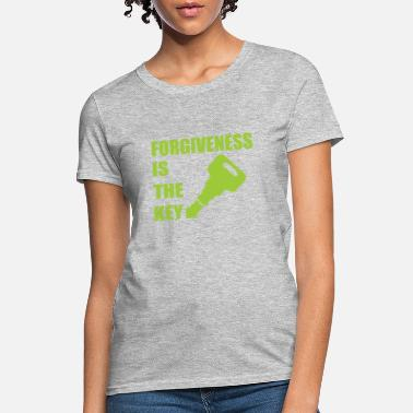 Christian Key Values Green Forgiveness is the Key Christian Believer - Women's T-Shirt