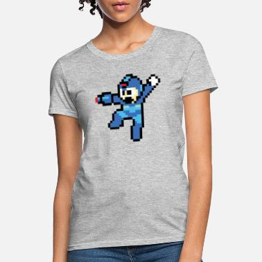 Man Mega Man Jump/Shoot - Women's T-Shirt