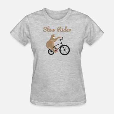 Ride Slow Sloth Shirt Slow Ride Sloth riding bicycle - Women's T-Shirt
