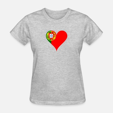 Portugal Fan Portugal Heart Flag Fan Soccer 2018 - Women's T-Shirt