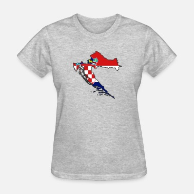 Usta flag Croatia map Hrvatska - Women's T-Shirt