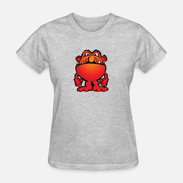 Cartoon Alien Cartoon Monster Alien - Women's T-Shirt