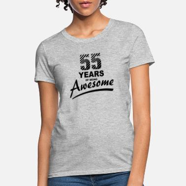 55 Years of being AWESOME - Women's T-Shirt