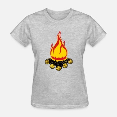 Night In The Woods campfire camping evening night camping camper wood - Women's T-Shirt