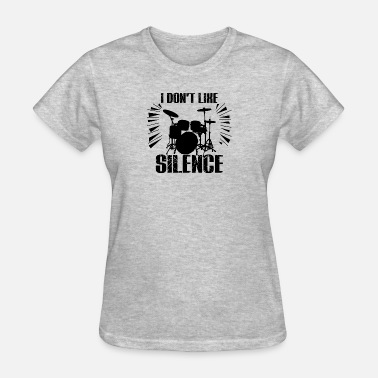 Destroy Rock And Roll drummer don't like silence gift idea drumset - Women's T-Shirt