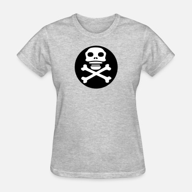 Bootboy circle pirate logo oars steering wheel anchor boat - Women's T-Shirt
