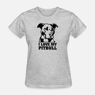 I Love My Pitbull Womens I Love My Pitbull - Women's T-Shirt