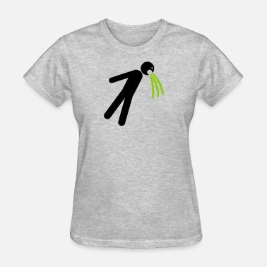 Vomit Cartoon symbol soil vomit vomit nausea vomit spit splash p - Women's T-Shirt